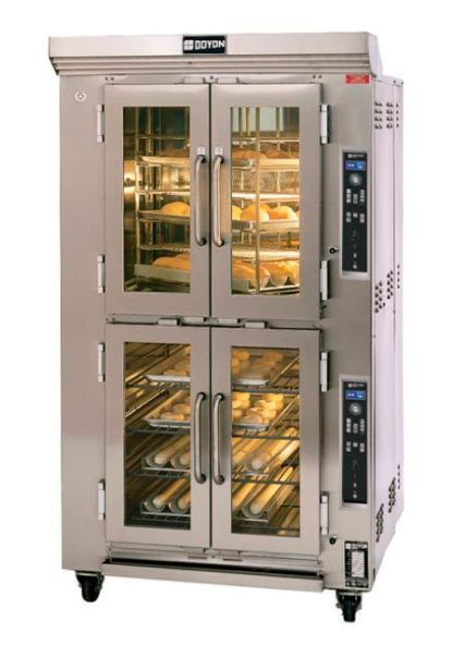 Commercial gas rotating rack oven