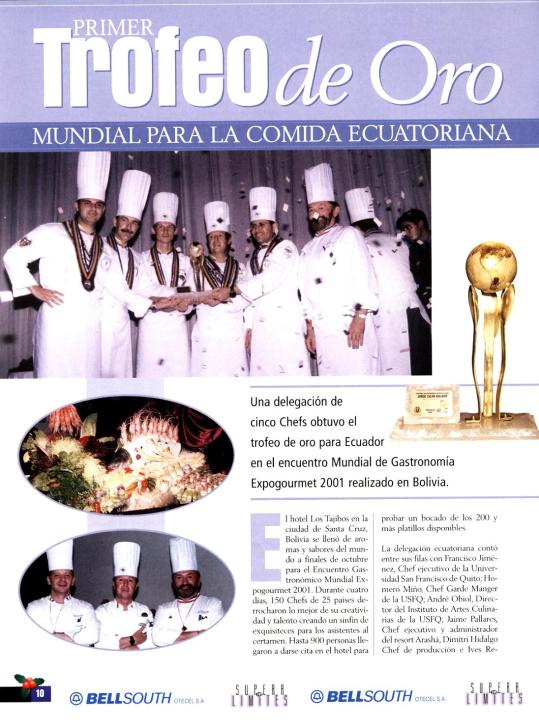 Expogourmet Bolivie 2001